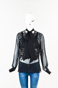 Prabal Gurung Silk Top Black