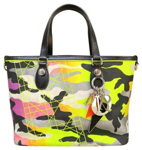 Dior Camouflage Christian Limited Edition Anselm Reyl Tote in Yellow and multicolor