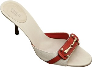 Gucci Beige, Orange Sandals