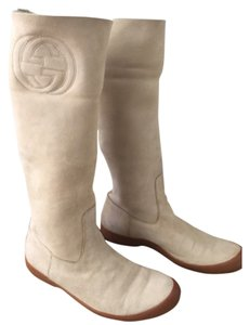 Gucci Cream Boots