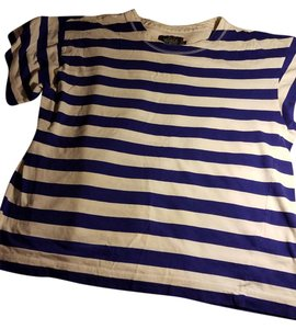 Woolrich Ugg Striped T Shirt White and blue