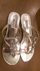 Badgley Mischka Beach Sandal Bridal Gold Sandals