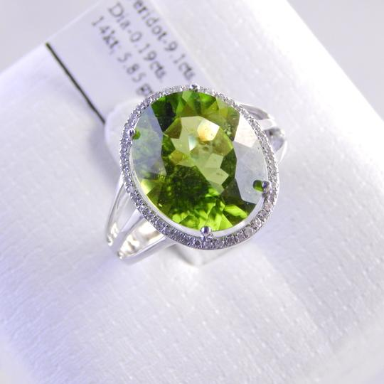 Other LARGE PERIDOT OVAL RING WITH MICRO SET DIAMONDS