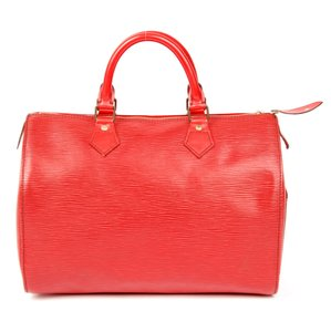 Louis Vuitton Epi Canvas Satchel in Red