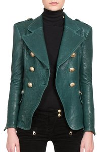Balmain Leather Military Military Jacket