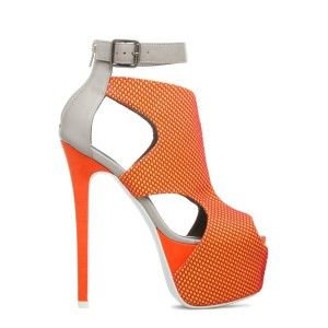 Paper Fox Orange/Grey Platforms