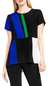 Vince Camuto Color-blocking Top BLACK COLORBLOCK