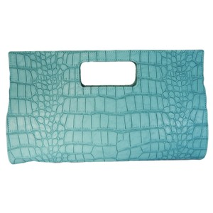 Giannini Faux Leather Animal Skin Blue Ocean Clutch