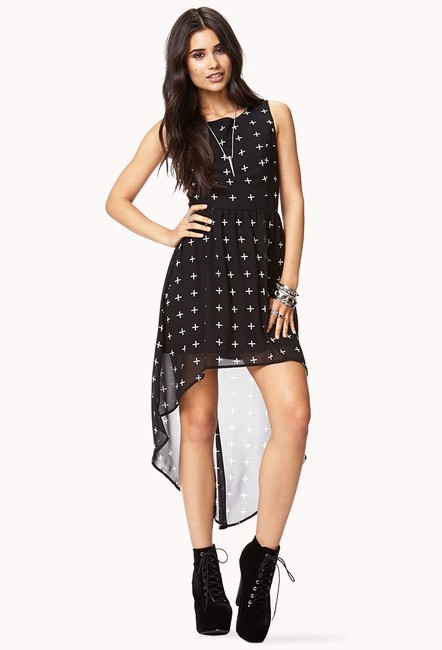 Black cream Maxi Dress by Forever 21