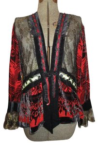 Area. A Velvet black, red & gold Jacket