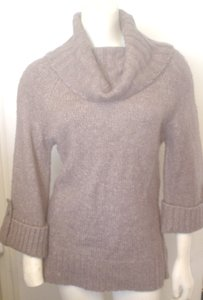Carolyn Taylor Cowl Neck Wool Blend Folded Cuff Sweater