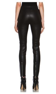 Acne Studios Pants Leather BLACK Leggings