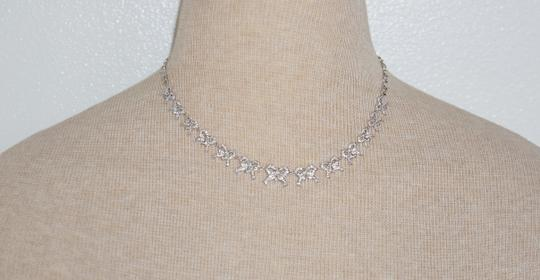 "Kenneth Jay Lane CZ by Kenneth Jay Lane ""Traditional Collection"" Cubic Zirconia Bow Necklace"