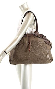 Henry Beguelin Beguelin Cuir Distressed Pebble Satchel in Olive Brown