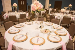 Blush/Light Pink/Ivory Centerpiece