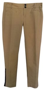 Cartonnier Zipper Trim Straight Pants khaki