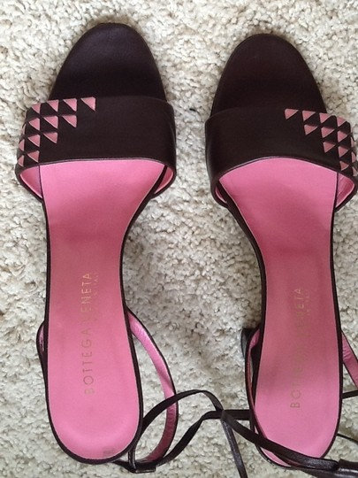 Bottega Veneta Brown/pink Sandals Image 7
