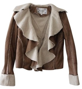 Poetry Soft Coat Lining Ruffled Faux Leather Motorcycle Jacket