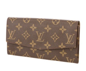 Louis Vuitton Brown, tan LV Monogram Louis Vuitton Emilie envelope wallet