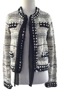 Chanel Chiffon Trimmed Black and White Jacket