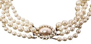 Miriam Haskell MIRIAM HASKELL 4 Strand Fresh Water Pearl Choker Necklace