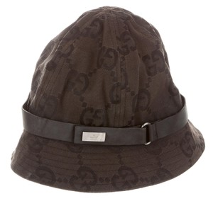 Gucci Black, brown GG monogram canvas Gucci bucket hat