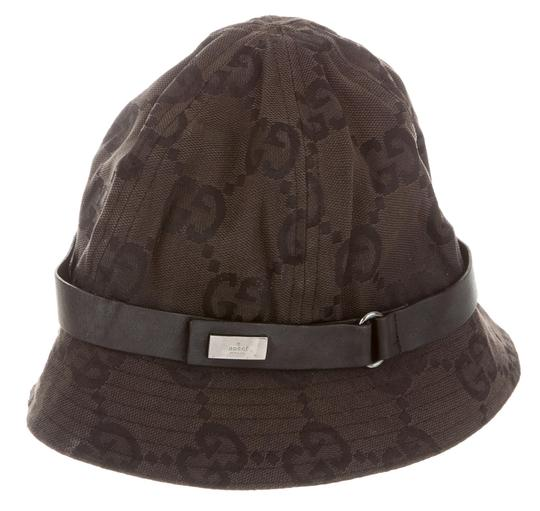 gucci black brown gg monogram canvas bucket hat. Black Bedroom Furniture Sets. Home Design Ideas