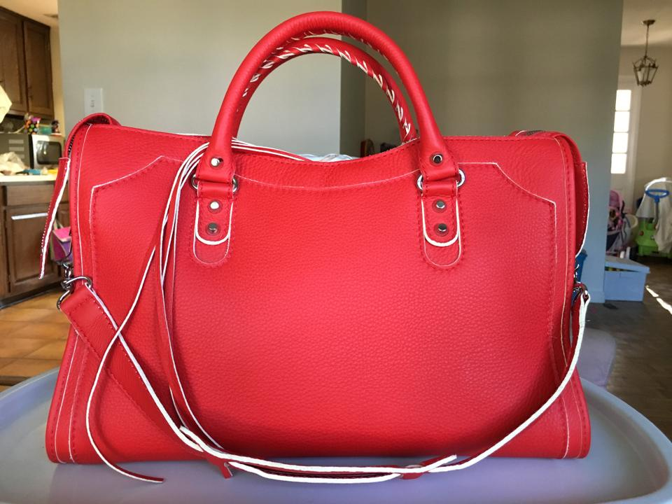 Classic Shoulder Leather Hilite City Bag Balenciaga Red FzqfzU