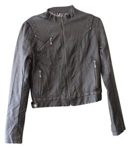 Coalition Faux Leather Motorcycle Jacket