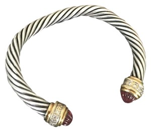 David Yurman bracelet sterling silver 18 k gold with diamonds