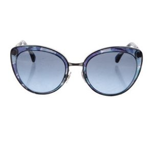 Chanel Chanel Blue Translucent Oversize Sunglasses