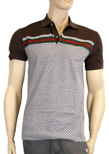 Gucci Men's Diamante Polo T Shirt Multi-Color