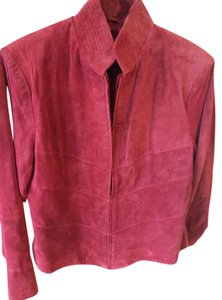 Terry Lewis Classic Luxuries reddish Leather Jacket