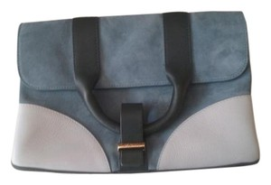 Jason Wu Suede Leather Blue/White/Black Clutch