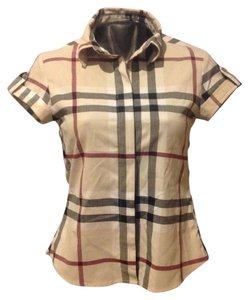 Burberry Brit Button Down Shirt Beige
