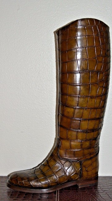 Gucci Brown Crocodile Leather Riding Eu 37 Italy Boots/Booties Size US 7 Regular (M, B) Gucci Brown Crocodile Leather Riding Eu 37 Italy Boots/Booties Size US 7 Regular (M, B) Image 4