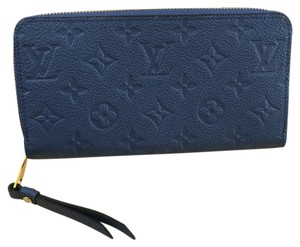 Louis Vuitton $50 Off With Code Drop50 Brand New Louis Vuitton Zippy Empreinte Wallet In Denim Color!