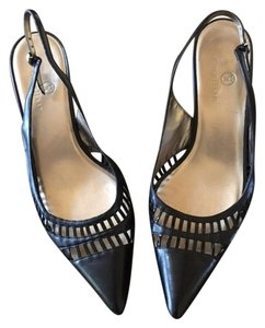 Cole Haan Leather Slingback black Pumps
