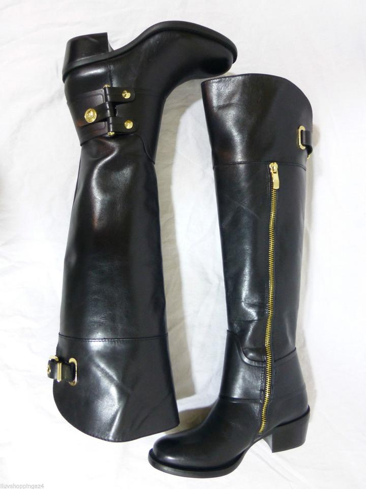 f930b38e874 Vince Camuto Black New Brooklee Leather Over The Knee Boots/Booties Size US  4.5 Regular (M, B) 66% off retail