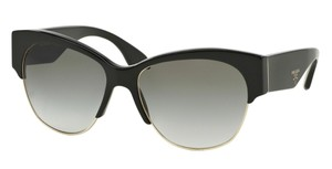 Prada Prada SPR11R Sunglasses PR11RS Black 1AB0A7 Authentic