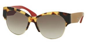 Prada Prada SPR11R Sunglasses PR11RS Havana 7S00A7 Authentic