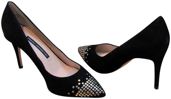 French Connection Black Elka Kid Suede Studded Toe Pumps Size US 10 Regular (M, B) French Connection Black Elka Kid Suede Studded Toe Pumps Size US 10 Regular (M, B) Image 1