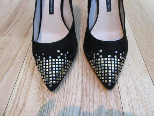 French Connection Suede Studded Black Pumps