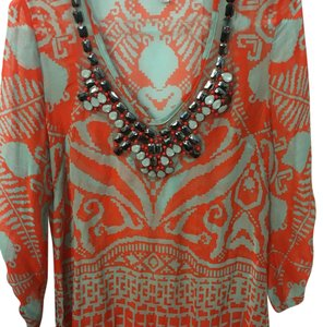 MILLY Top Orange and grey