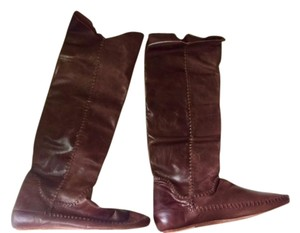 INDI CHIC Leather Never Been Worn BROWN Boots