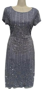 Adrianna Papell Red Carpet Handmade Embellished Stunning Dress