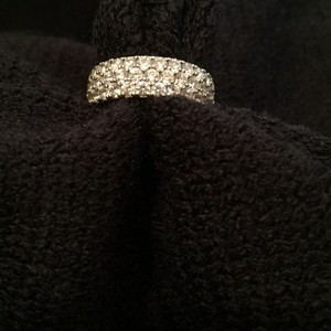 QVC Diamonique Pave' Eternity Band Ring Eternity Band