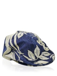 Dolce&Gabbana Dolce & Gabbana Navy and Cream Floral Print Newsboy Hat