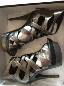 Bebe Pewter Platforms