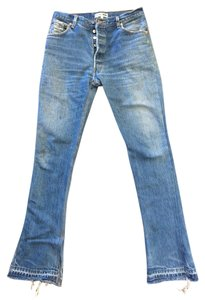RE/DONE Vintage Re/dun Redone Boot Cut Jeans-Dark Rinse